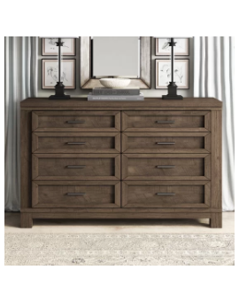 *  Sallie 8 Drawer Double...