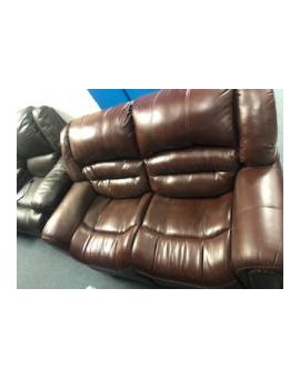 Brown Leather Loveseat...