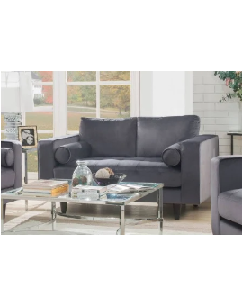 Acme Loveseat Grey Velvet