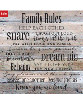'Family Rules' Textual Art...