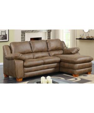Flounder Brown Sofa Chaise