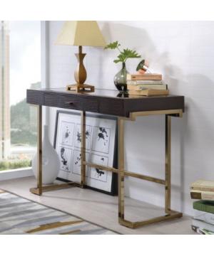 Boice Desk in Espresso PU &...
