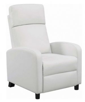 Abbey White Push Back Recliner