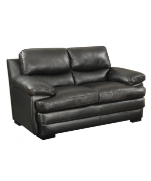 Wilton Loveseat Brown Leather