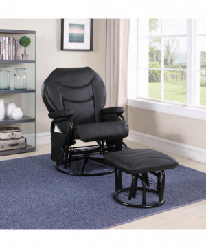 Upholstered Casual Black...