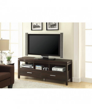 Transitional Dark Brown TV...