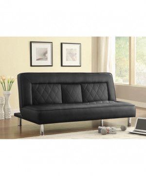 Black Sofa Bed with Drop...