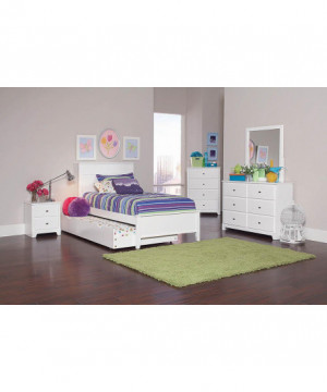 Ashton White Twin Bed