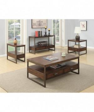 Industrial Brown Sofa Table
