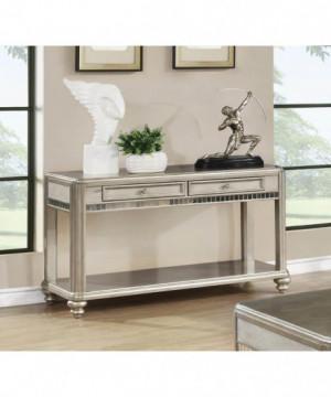Metallic Platinum Sofa Table