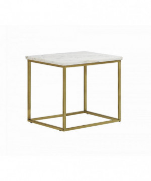 White and Brushed Brass...