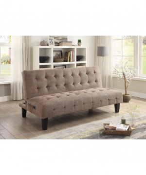 Taupe Sofa Bed with USB and...