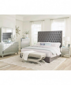 Camille Grey Upholstered...