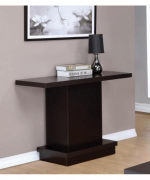 Cappuccino Wood Top Sofa Table