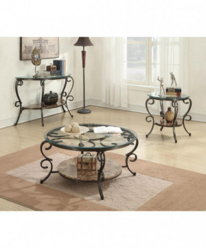 Traditional Brown End Table