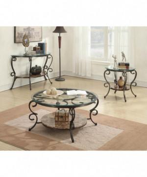 Traditional Brown Sofa Table
