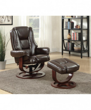 Transitional Brown Chair...