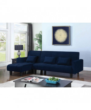 Transitional Blue Sofa Bed