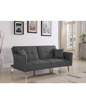 Modern Grey and Chrome Sofa...