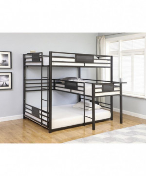 Q / T / Q Triple Bunk Bed