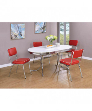 Retro Red and Chrome Dining...