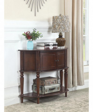 Traditional Brown Console...