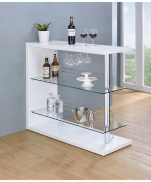 Two-Shelf Contemporary Bar...