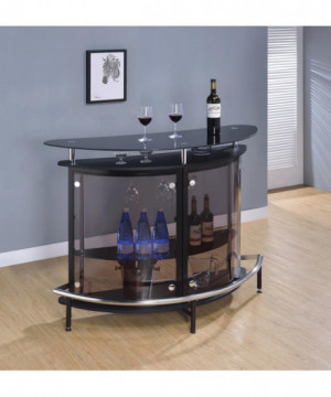 Contemporary Black Bar Unit...