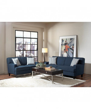 Finley Casual Blue Loveseat