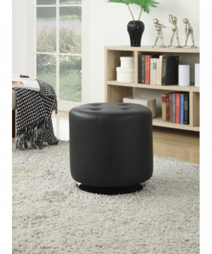 Contemporary Black Round...