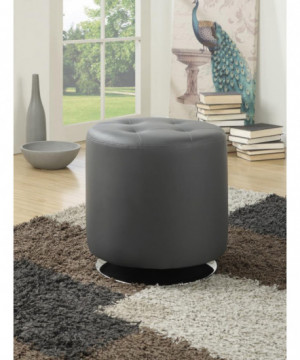 Contemporary Grey Round...