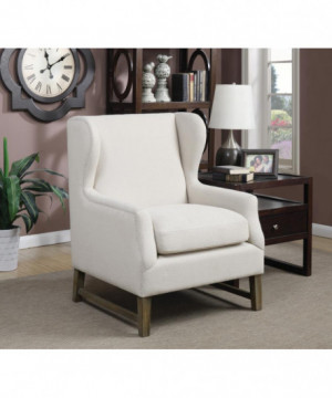 Traditional Cream Accent Chair