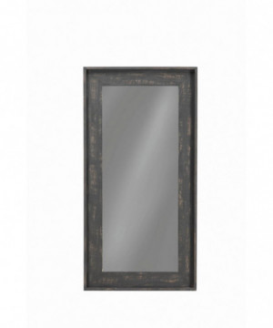 Distressed Black Wall Mirror