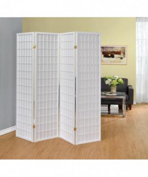 White Four Panel Folding...
