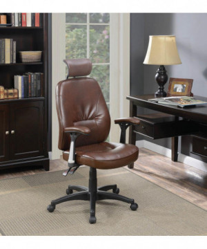 Contemporary Brown Faux...