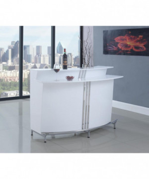 Contemporary White Bar Unit...