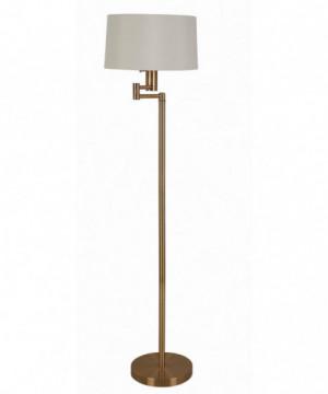 Transitional Brass Floor Lamp