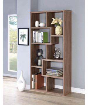 Transitional Elm Bookcase