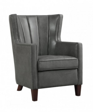 Upholstered Dark Grey Wing...