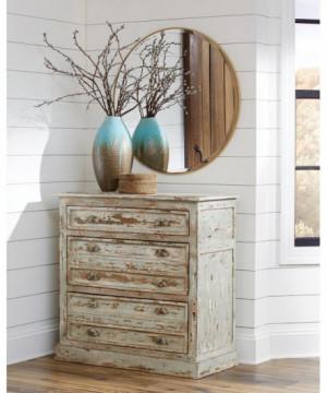 Antique Rustic Accent Cabinet