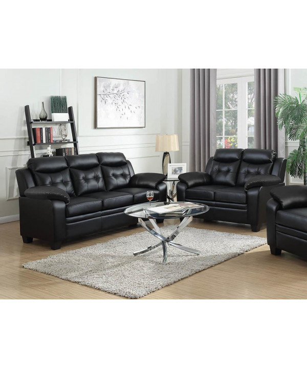 Finley Casual Brown Two Piece Living, Two Piece Living Room Set