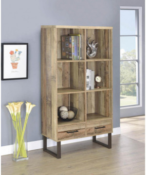 Nixon Weathered Pine Bookcase