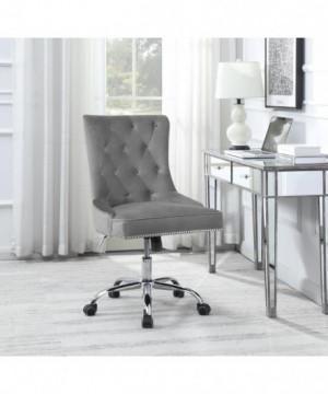 Modern Grey Velvet Office...