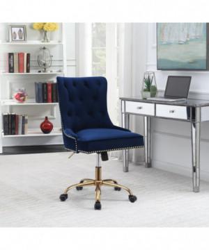 Modern Blue Velvet Office...