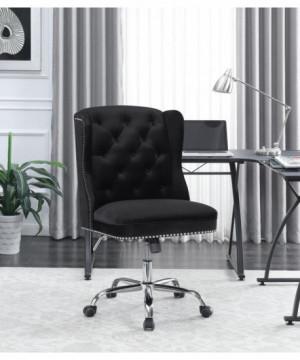 Modern Black Velvet Office...