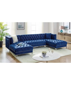 MS 2069 Sectional Velvet Blue