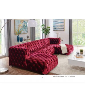 MS2086 Sectional in Velvet