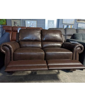 Dark brown recliner...