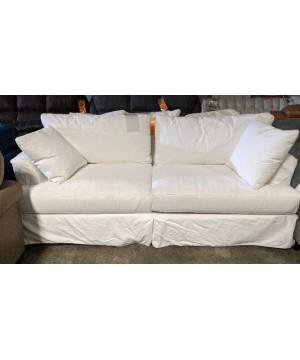 "White Slipcovered Sofa - ""B..."
