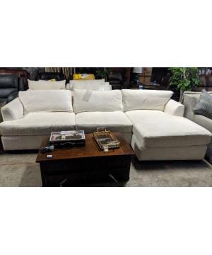 White Right Chaise Sofa - A...